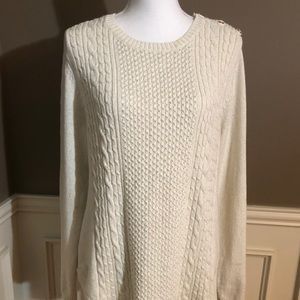 NWT Ivory/Gold Sweater by Charter Club. Size XL.